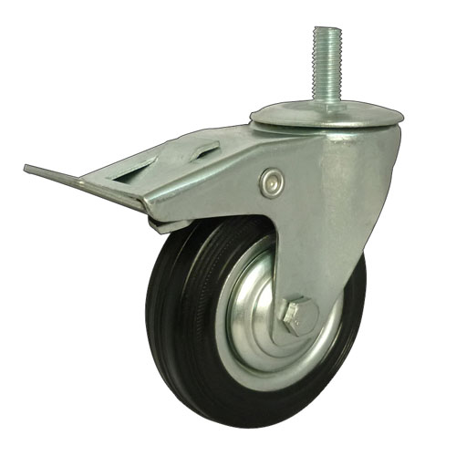 Threaded Stem Total Brake Industrial Caster